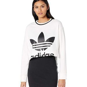 Adidas Originals Cropped Trefoil Crew Sweatshirt